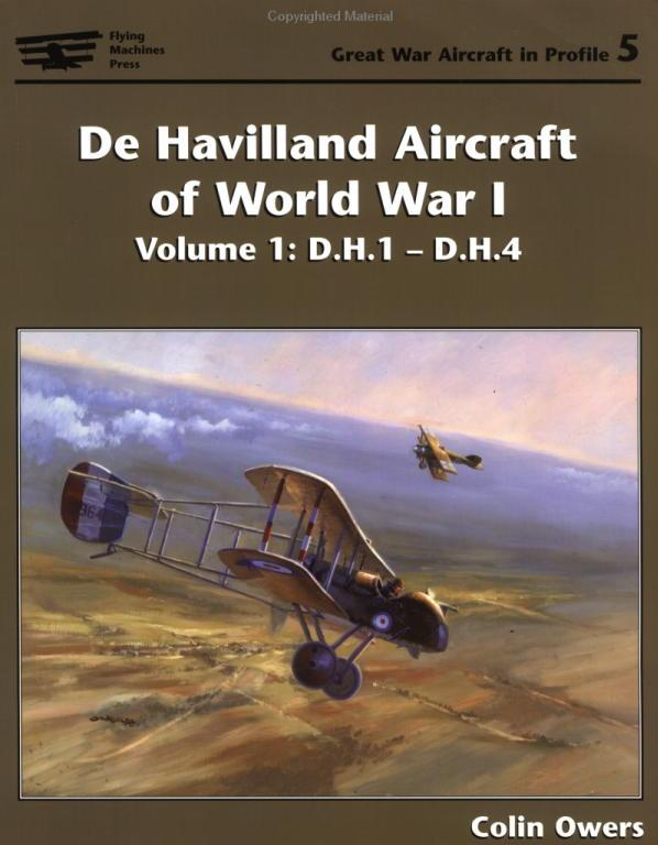 De Havilland Aircraft of World War I, Vols 1